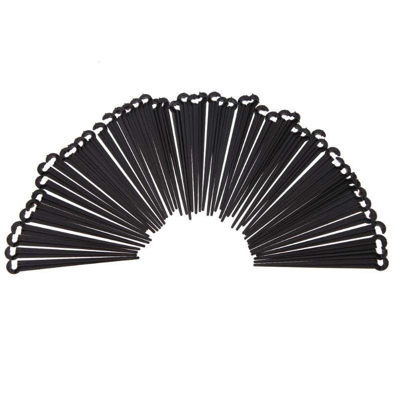 Durable Plastic C Shaped Hook Fixed Stems Support Holder for Drip Irrigation Water Hose Drip Irrigation Tubing Pipe 50pcs Black Home Decor