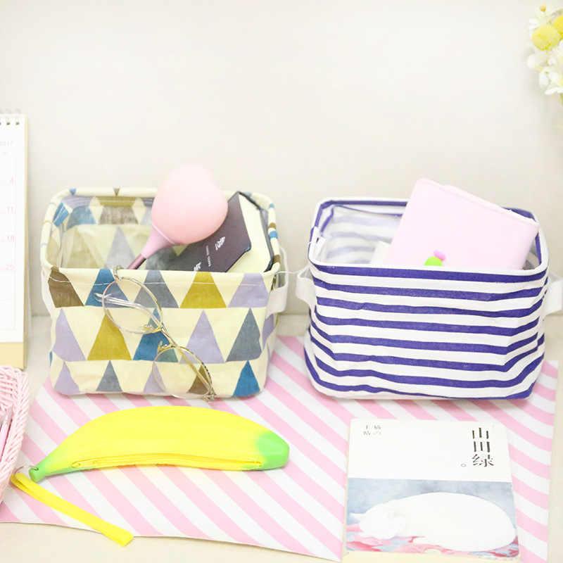 MICCK Faltbare Desktop Lagerung Korb Kleinigkeiten Lagerung Box Unterwäsche Kosmetische Veranstalter Schmuck Schal Socken Lagerung Korb Taschen