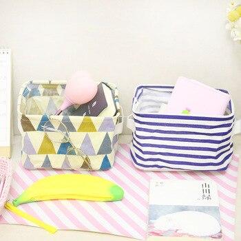 MICCK Foldable Desktop Storage Basket Sundries Storage Box Underwear Cosmetic Organizer Jewelry Scarf Socks Storage Basket Bags