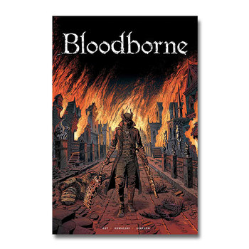 Плакат гобелен bloodborne шелк вариант 2