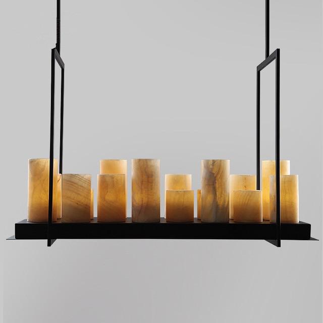 Moderne Nordic Pendelleuchte Kevin Französisch Ring Altar Kerze  Lampenschirm Marmor Pendelleuchte Küche Licht Fitxtures Glanz Lampe