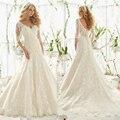 Latest Designs V-Neck Lace Mermaid Wedding dresses 2017 Plus Size Backless Appliques Wedding Gown Robe mariage Vestidos de novia