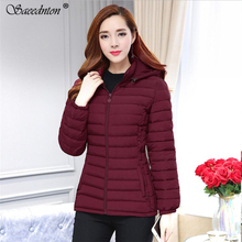 2019 Women Winter Jacket Down Long Female Winter Thick Coat For Women Hooded Cotton Padded Parkas Warm Clothes Plus Size 6XL