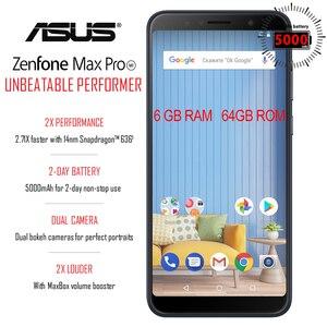Image 2 - Global Versie Asus Zenfone Max Pro (M1)ZB602KL 4Gb 64Gb 6 Inch 4G Lte Smart Ontgrendeld Mobiele Telefoon Gezicht Id 5000Mah Android8.1