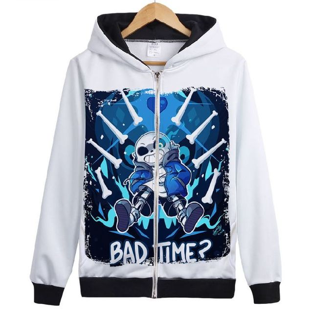 Fashion Games Undertale Skull Brother Printed hoodie Undertale sans papyrus cosplay jacket Unisex Skeleton Zipper Coat 112702