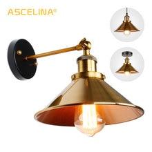 Lámpara de pared Vintage lámpara de pared Industrial aplique de pared Retro luces doradas lámpara de techo pasillo entrada dormitorio iluminación