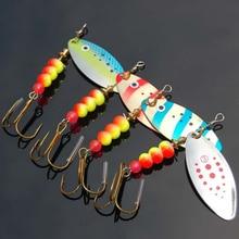 4 Pcs 85 millimetri 12g di Richiamo di Pesca Spinner Cucchiaio di Rotazione In Metallo Attrezzatura Da Pesca Esca Artificiale Con Mustad Ganci