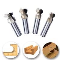 Hakkin 4Pcs Sharp Milling Cutter Arc Router Bit Countersink Cutter Tenon Router Bits Woodworking Tool Wood