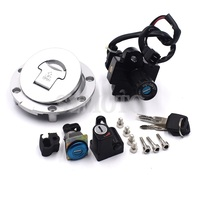Ignition Switch Lock Fuel gas Tank Cap Cover Seat Handle Locks Include Key For Honda CB400 SF 1992 1998 CB 1 VFR400 VT250 CB750