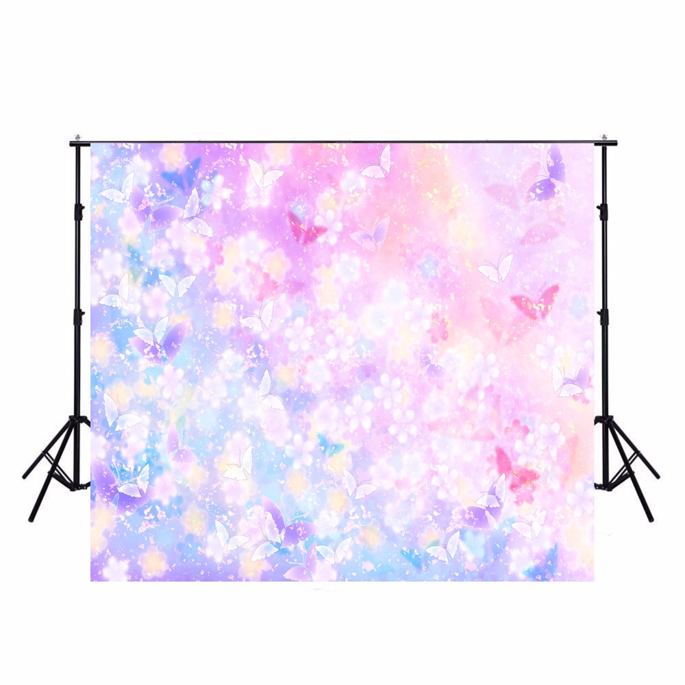Colorful Butterfly Photography Backdrops Baby Vinyl Backdrop For Photography Camera Fotografica Background For Photo Studio ashanks photography backdrops 1 8 2 8m solid background for photo studio 6ft 9ft backdrop for camera fotografica