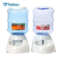 Wholesale 3 5L Pet Cats Dogs Automatic Feeder Drinker Bow Cat Feeding Bottle Food Bowl Water
