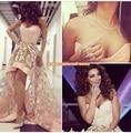 Элегантный саудоаравийском сердечком асимметричный пром платья высокая низкая платья платья партии