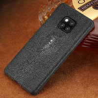 natural Genuine Leather Pearl fish phone case for Huawei mate 20 10 pro mate 9 pro Honor 9 Lite shockproof Luxury case