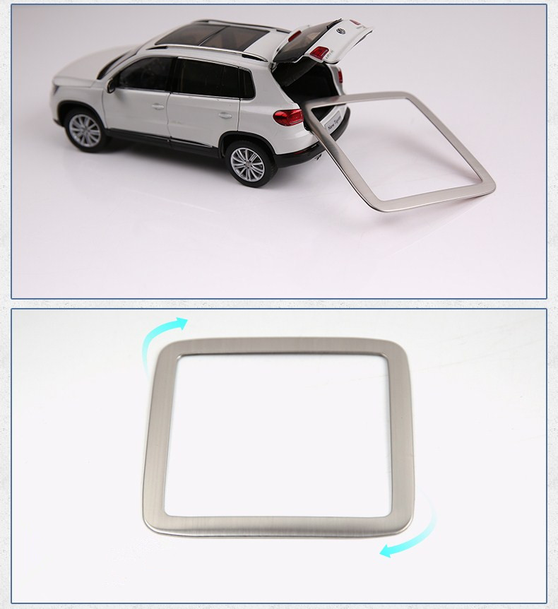 For VW for Volkswagen Tiguan 2010-2014 Car Trunk Handle Frame Trim Cover Stainless Steel Auto Accessories