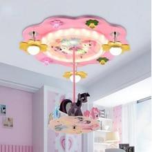 Веселая Детская комната креативная Мода Мультфильм потолочные лампы принцесса спальня светильник девочка детская комната Светильник ing