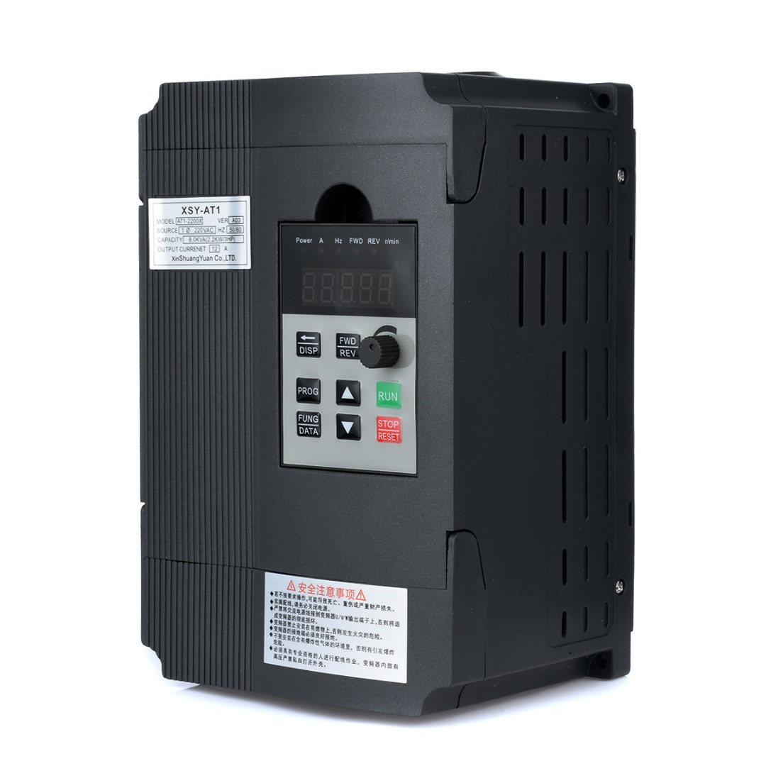 2.2KW 12A 3HP Single Phase Variable Frequency Inverter Speed Control Drive Inverter VSD VFD PWM Control слипмат pro ject felt mat debut 280 mm blue