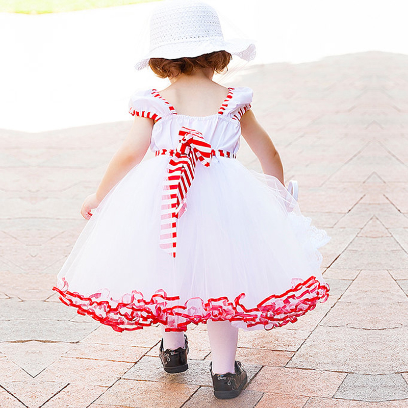 Toddler Girl Summer Sleeveless Dresses Baby Girl Lace Clothes Tutu Clothing For Kids Party Ball Gown Dress Infant Bbay Wear 1-5T