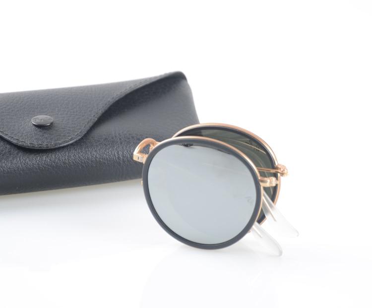 High Quality Round Folding Fishing Sunglasses New Fashion Vintage Mirror Metal Frame Men Women Retro Sun Glasses 2016 new fashion sunglasses women brand designer sun glasses vintage eyewear