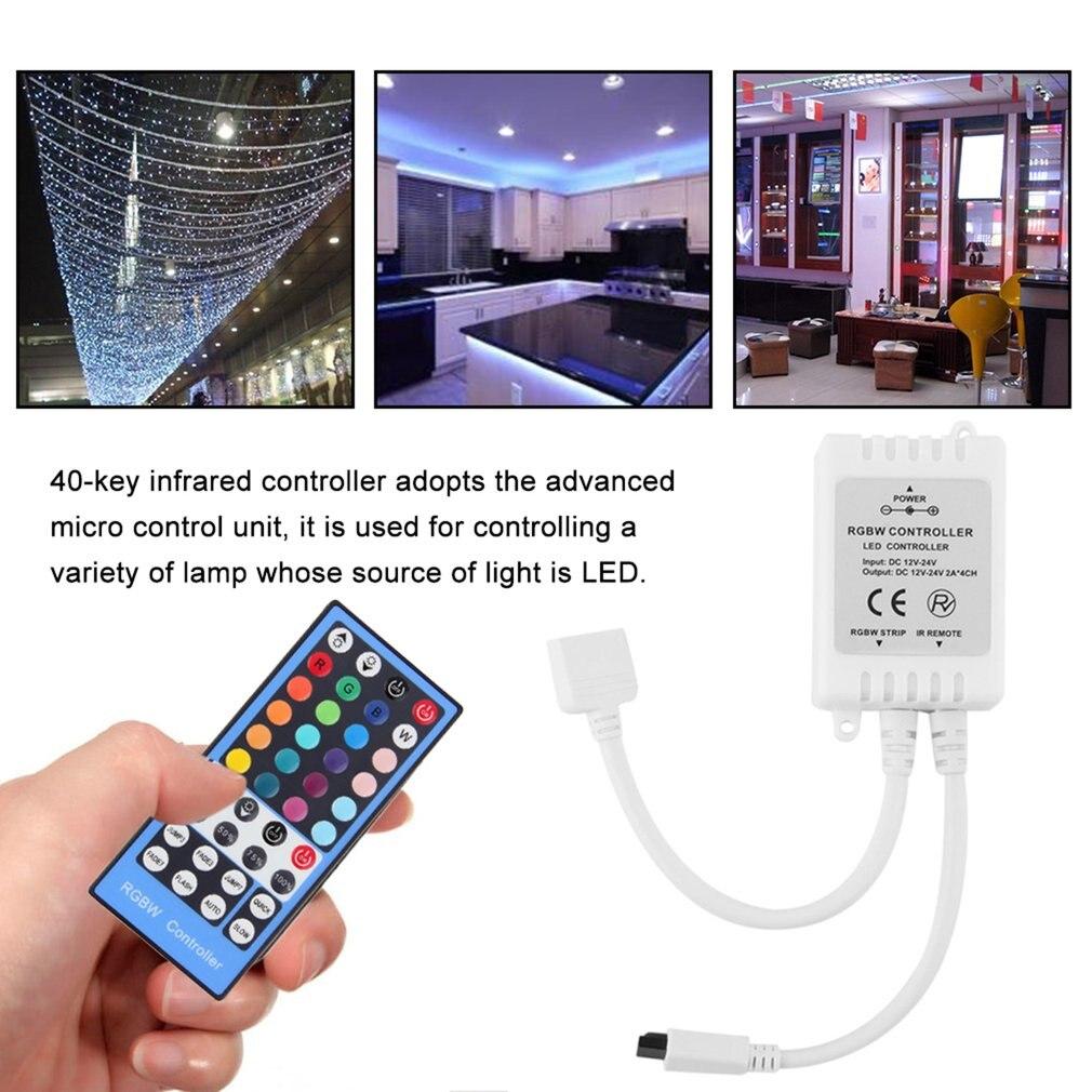 DC12-24V 40-ключ светодиодный RGBW Пульт дистанционного управления для RGBW Светодиодные ленты свет CLH @ 8