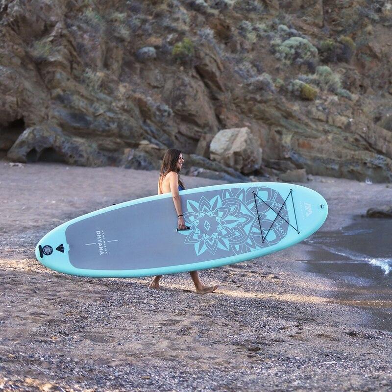 Yoga bordo 336*91*12 cm AQUA MARINA DHYANA SUP stand up paddle board yoga tavola da surf tavola da surf acqua clubexcercise attrezzature