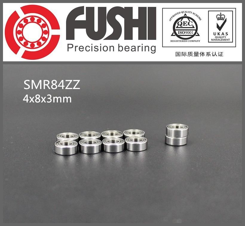 SMR84ZZ ABEC-1 (10PCS) 4X8X3 mm Stainless Steel Miniature SMR84 ZZ Ball Bearings SMR84-ZZ gcr15 6326 zz or 6326 2rs 130x280x58mm high precision deep groove ball bearings abec 1 p0
