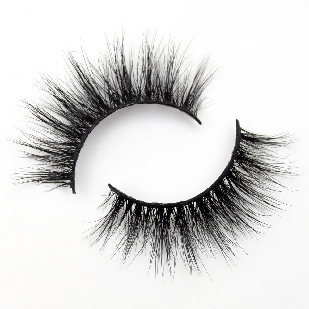Visofree Lashes 3D Mink Eyelashes Volume Mink Eyelash Extensions Thick Mink Lashes Cruelty Free Fluffy Natural False Lashes R02