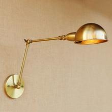QUKAU 60CM folded arm wall light sconces creative dining room bedside decorative lamp