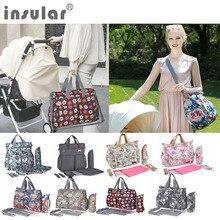 Insular Cartoon Maternity Diaper Handbag Large Capacity Mummy Nursing Shoulder Bag  flower style mom handbag baby stroller bag