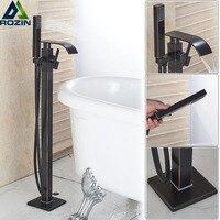 Водопад для ванной смеситель для душа черный бронзовый Напольные ванна смеситель с ручным душем отдельно стоящий Clawfoot ванна раковина