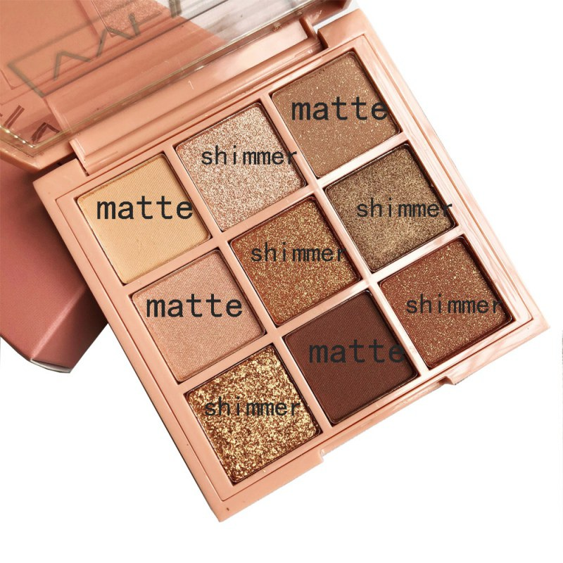 New 9 Colors Shimmer Mini Eyeshadow Palette Nude Earth Diamond Shimmer Glitter Waterproof Long-lasting Professional Makeup