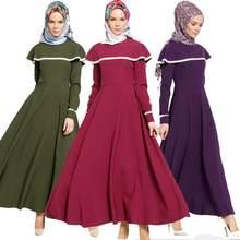 2018 fashion Islamic Women Lace stitchingCloak Dubai Kaftan Long Muslim  Dress Evening Arab Elegant Dresses a739 4e376c674a06