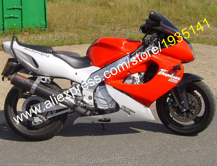 Hot Sales,For Yamaha YZF1000R Thunder ace YZF-1000R 1997-2007 YZF 1000 R 97-07 Red White Aftermarket ABS Motorcycle Fairing Kit