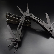 High Quality Outdoor Survival Multifunction Plier Stainless Tungsten Alloy Pocket Multi tools Knife Camping Kit(China)