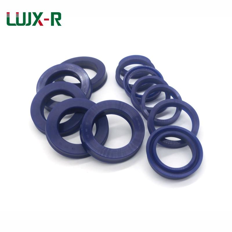 LUJX-R 2 шт., уплотнительное кольцо ID23/24/25/26/27 U, прокладка чашки для насосного цилиндра, гидравлическое вращающееся масляное уплотнение, искусст...
