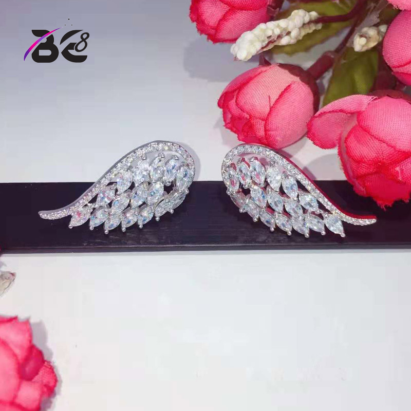 Be 8 Fashion Brilliant AAA Cubic Zircon Women Stud Earrings Brincos Weeding Jewelry Party Gifts Earings Fashion Jewelry E814