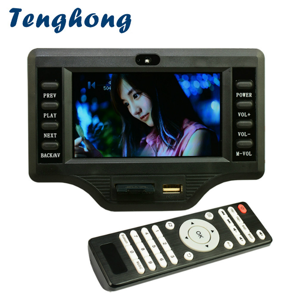 Tenghong 4.3 pouces LCD MP3 décodeur carte DC12V 50 W * 2 + 100 W Bluetooth amplificateur carte MP5 Audio récepteur Module de décodage WMA/OGG