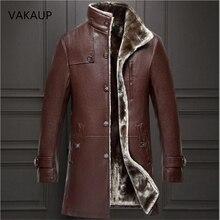 Мужская куртка из овечьей кожи, пальто, парка из натурального меха, Мужская одежда, длинный плюш, толстая зимняя овчина, мужские куртки большого размера