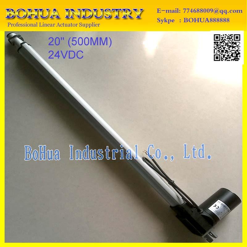 12V/24V 20inch/500mm stroke, 5000N/500KG load mini linear actuator electric linear actuator linear actuator tv lift