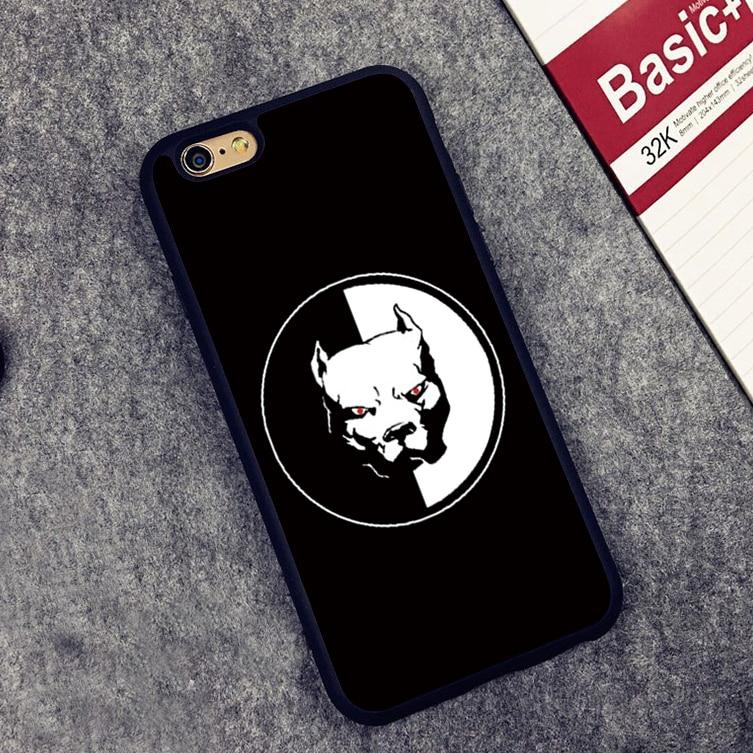 Щенок питбуль Pitbull Gog мягкий силиконовый защитный чехол для iPhone X 8 7 7 плюс 6 S плюс 5 5S SE