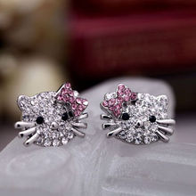 Beautifully designed fashion hot super cute Hello Kitty cute little kitty earrings for women