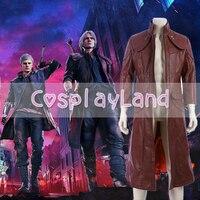 Devil May Cry 5 Данте костюм Тренч костюмы на Хэллоуин для взрослых для мужчин косплэй DMC5 Необычные пальто костюм куртка аксессуары