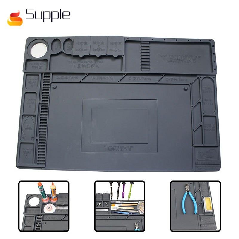 Souple 2018 WL multi-fonction réparation Pad plate-forme de Maintenance haute température bureau complet de Maintenance silicone tapis
