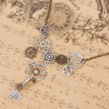 DoreenBeads New Fashion Steampunk Statement Necklace Link Cable Chain Antique Bronze Gear Pendants 51.5cm long, 1 Piece