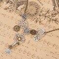 Doreenbeads nova moda steampunk colar declaração elo da cadeia de cabo de bronze antigo pingentes engrenagem 51.5 cm de comprimento, 1 Peça