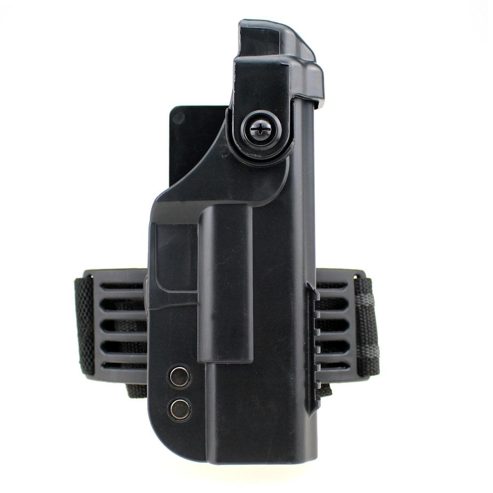 Tactical Glock Leg Holster Military Quick Release Right Drop Leg Thigh Pistol Gun Holster for Glock 17 18 19 21 22 23 26 30