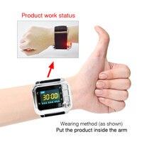 Лазерный лечебный наручный Watch медицинский инструмент для лечения высокого артериального давления/диабета/ринита/холестерина/церебрально...