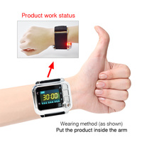 Laser Therapy Wrist Watch Medical Instrument Treat High Blood Pressure/Diabetes/Rhinitis/Cholesterol/Cerebral Thrombosis