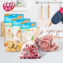 100pcs Kitchen Food Storage Bags Clear Plastic Packaging Fresh Bag PE Freezer