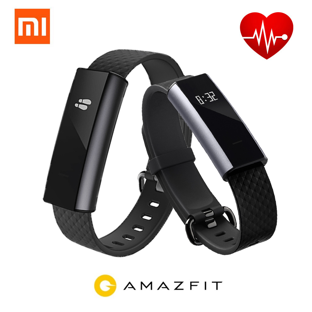 2017 Xiaomi Amazfit A1603 Smartband OLED Touch Key Bluetooth Heart Rate Monitor Fitness Tracker Smart Wristband For Android IOS huami amazfit heart rate smartband