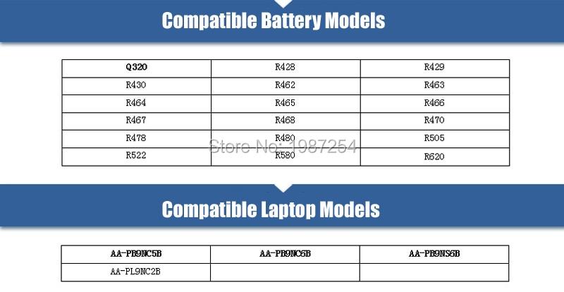 for Samsung R428 R467 AA-PB9NC6B RV515 Q530 laptop battery 6 cells black-06